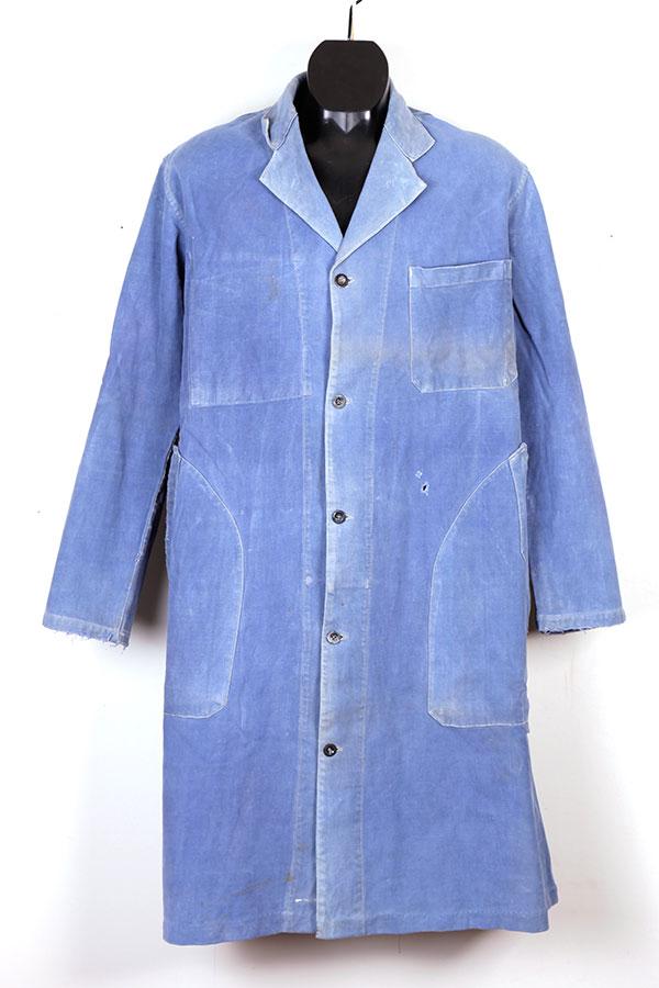 1950's indigo moleskin atelier coat
