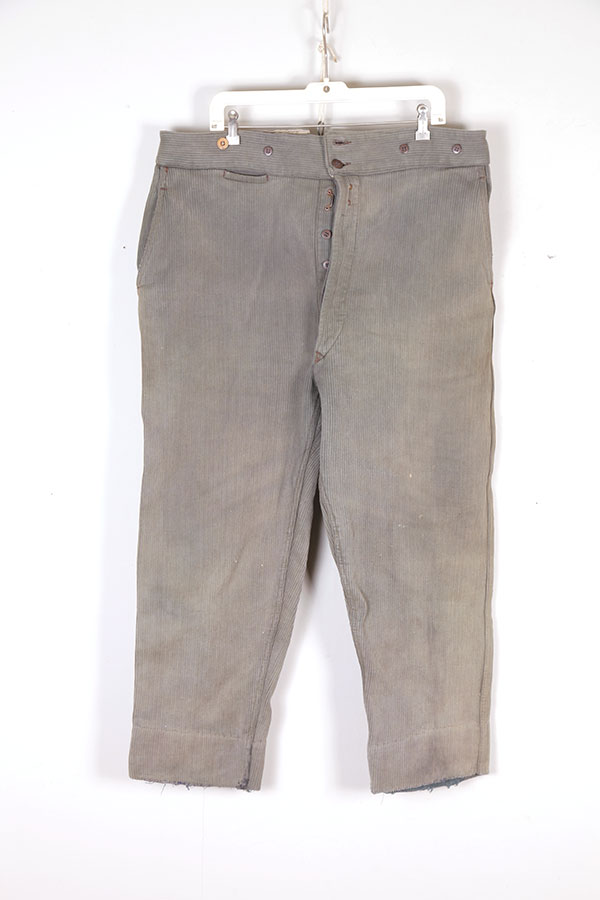 1930's Le Ramier grey/green cord pants