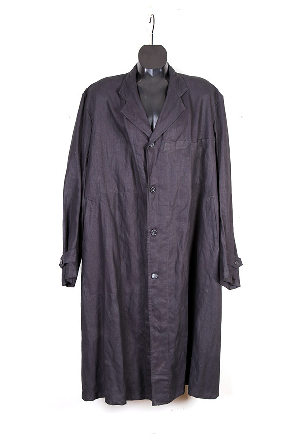 1930's french Villette indigo linen coat