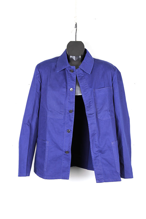 1950's indigo herringbone chore jacket
