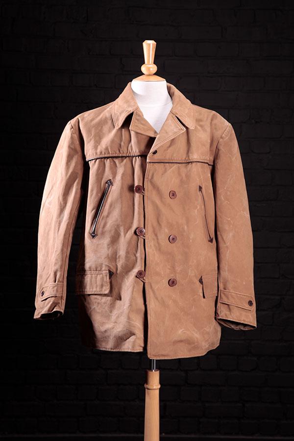 1950's french cachou canvas mackinaw coat