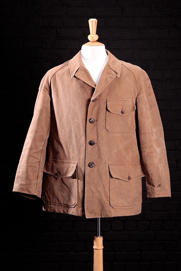 1950's french cachou canvas hunting jacket