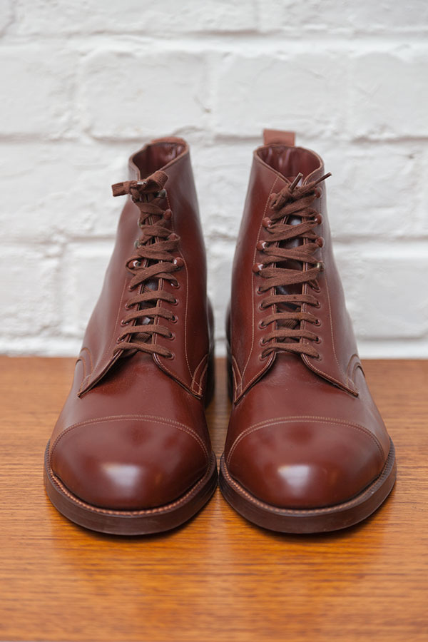 Deadstock 1950's brown leather boots
