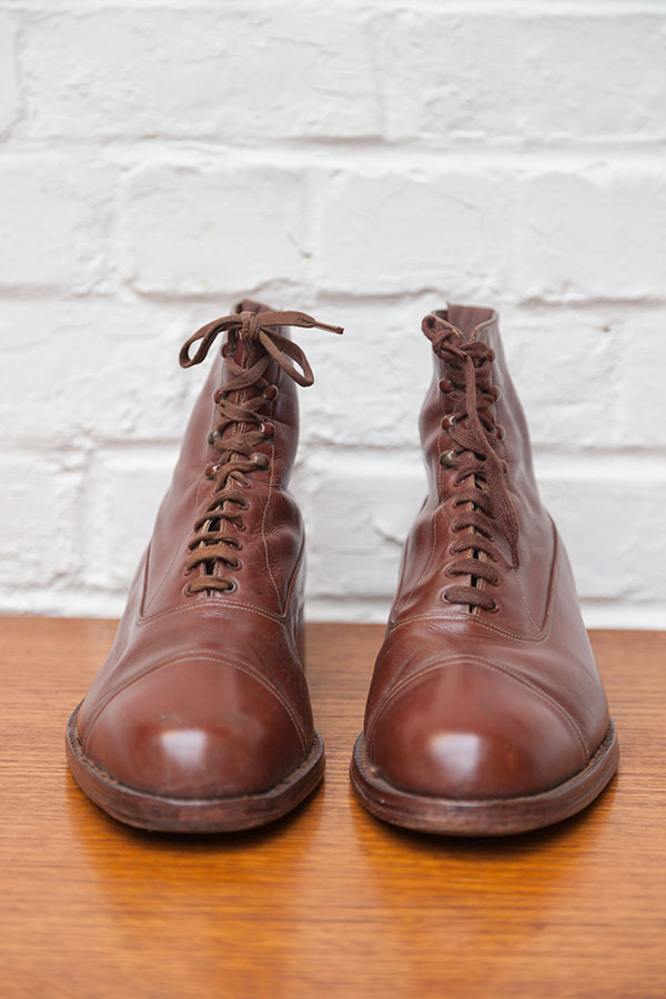 1930's brown leather boots