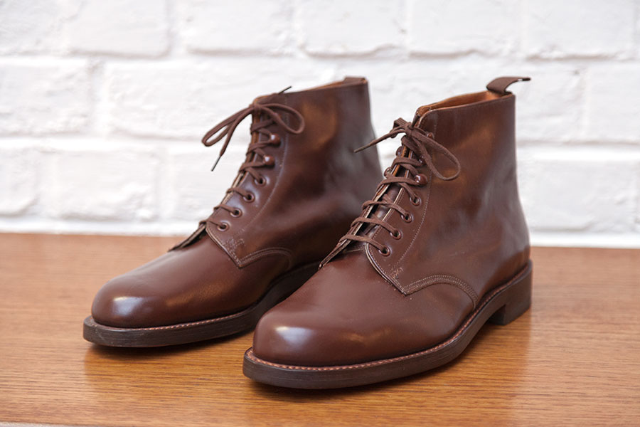 1950's deadstock brown leather boots