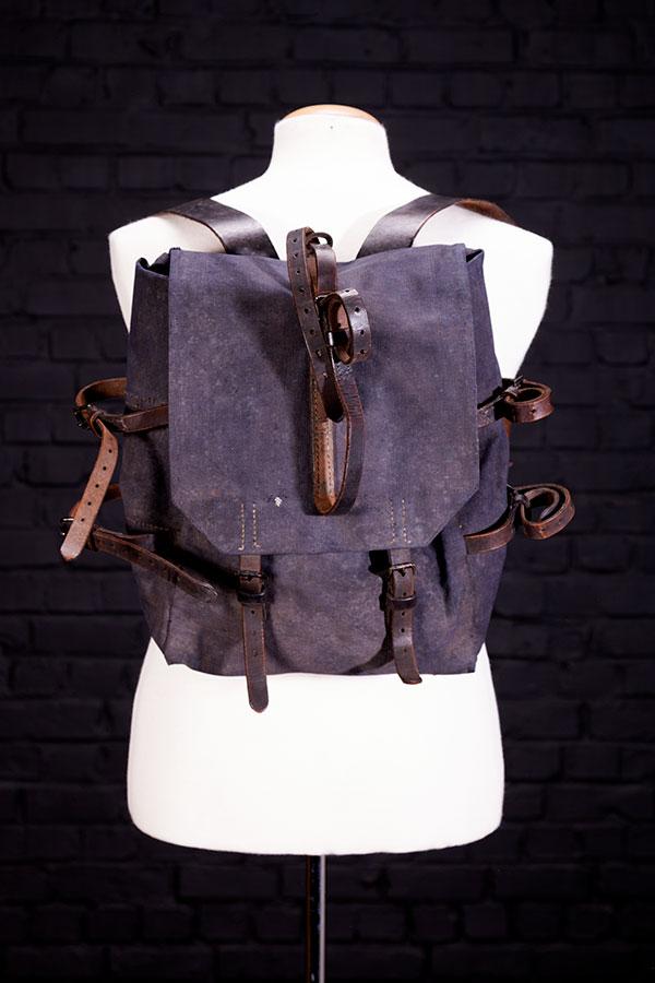 1950's belgian indigo Gendarmerie backpack