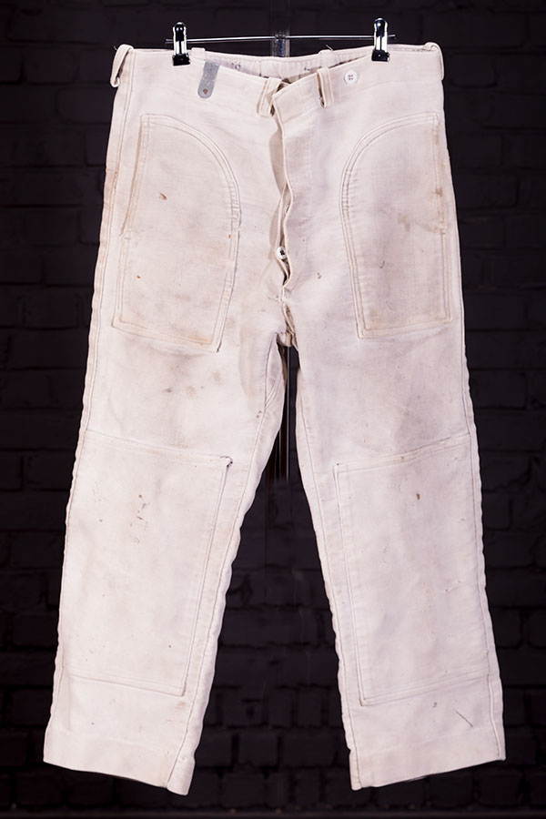 1930's thick moleskin french work pants