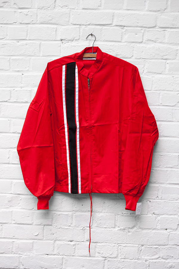 1960's deadstock US nylon red sport jacket