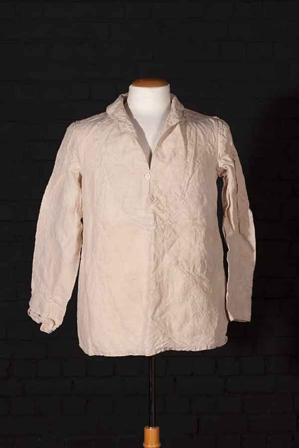1939 Marine Nationale linen work shirt (bourgeron)