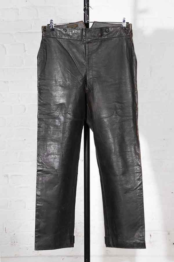 1930's french Belle Jardiniere Paris leather pants