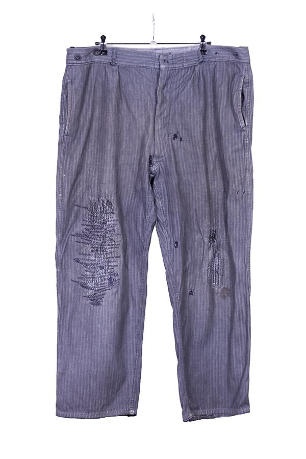 1940's herringbone chambray work pants