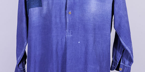 1930's french indigo work shirt
