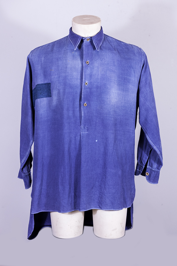 1930's french indigo work shirt