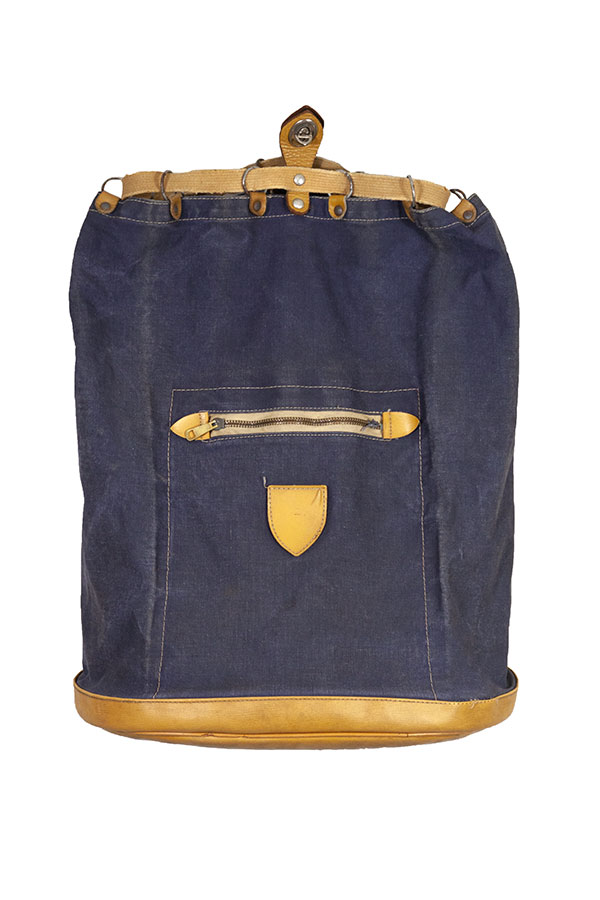 1950's small Lafuma indigo backpack