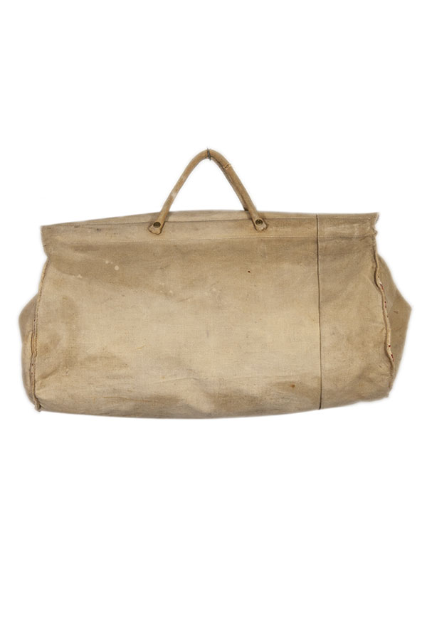 1930's french canvas travel handbag