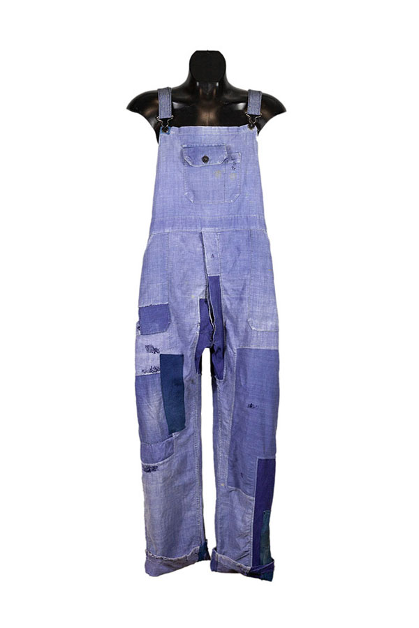 1930's Le Durable french indigo linen overall