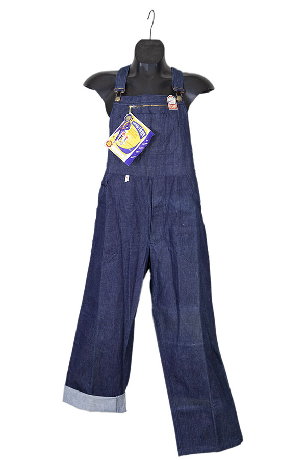 1950's Super Lion french indigo denim overall