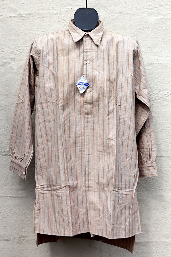 1940's deadstock french striped flannel shirt