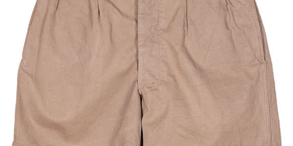 1950's french army chino shorts