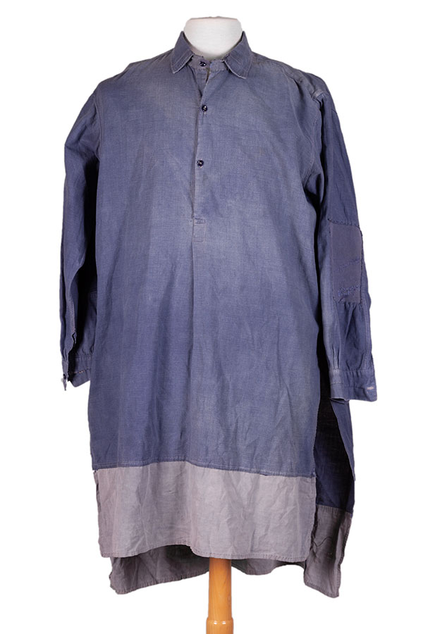1930's french indigo linen work smock/ shirt