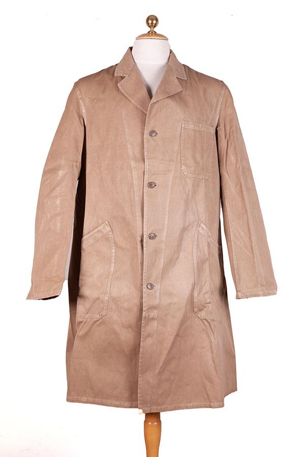 1950's Belgian cachou atelier coat