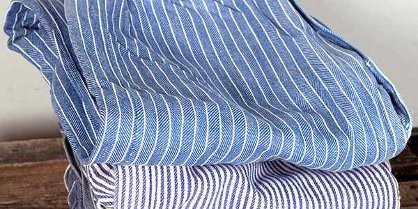 1930's french striped pajama pants