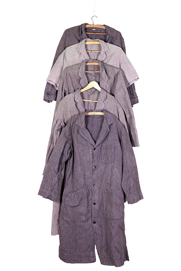 1950's french salt & pepper chambray atelier coats