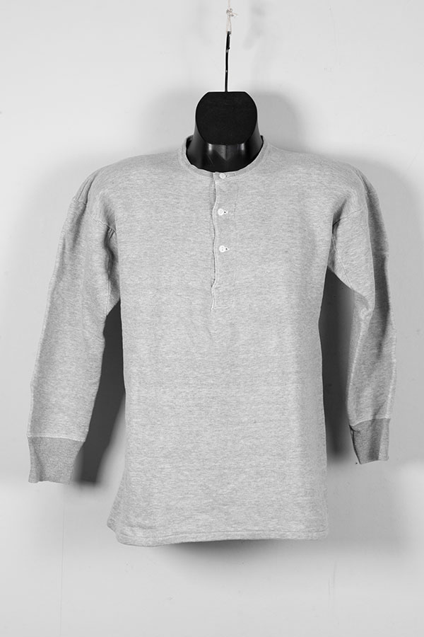 1950's french grey cotton henley