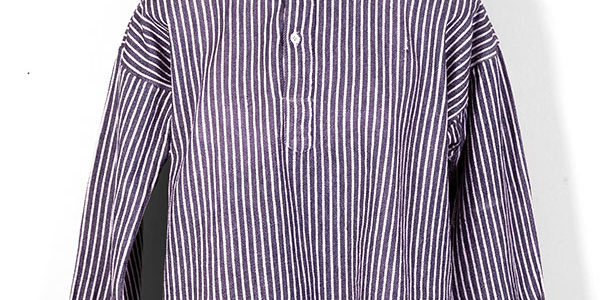 1930's french striped cotton henley