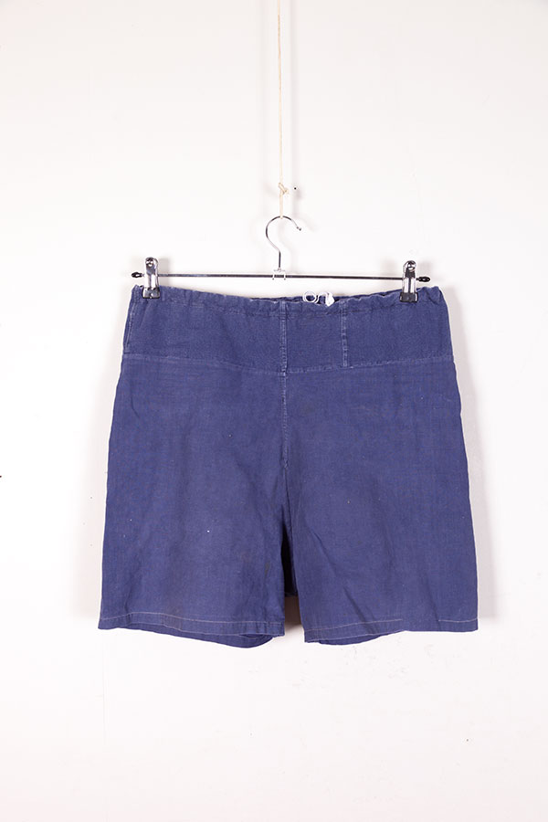 1940's indigo linen men's shorts