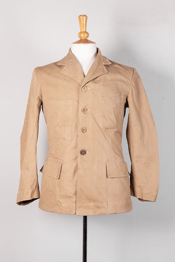 1950's french postman linen jacket