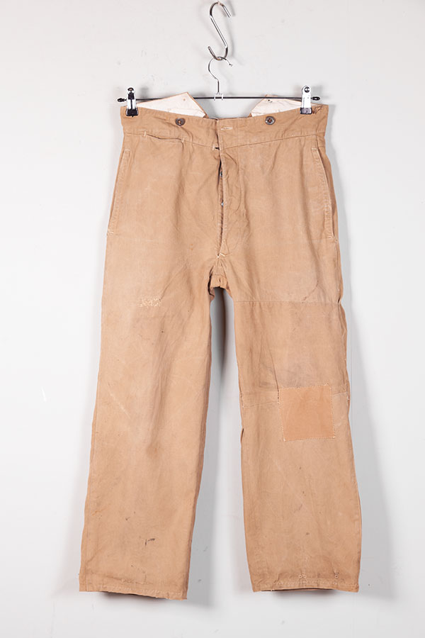 1920's french postman linen pants