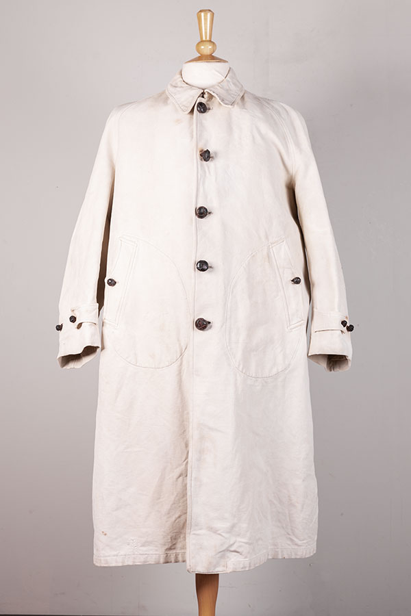 1930's french driver/ coachman linen coat