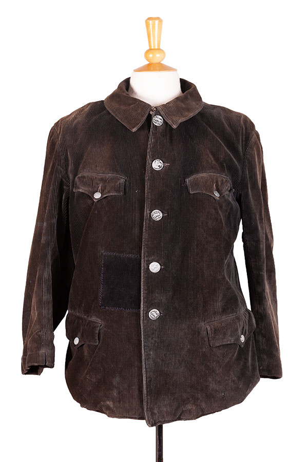 1930's french Le Chamonix cord hunting jacket