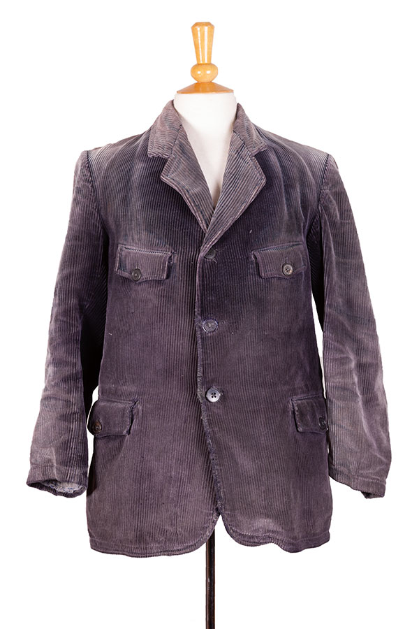 1930's french cord sack coat