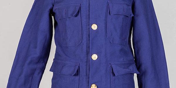 1960's belgian fireman moleskin jacket