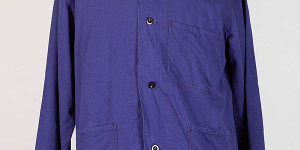 1960's Belgian indigo linen jacket