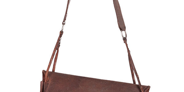 1930's french hunting leather bag