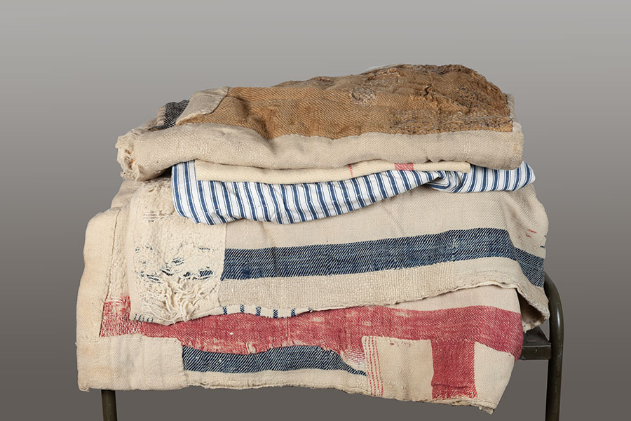 1920's french patched wool blankets