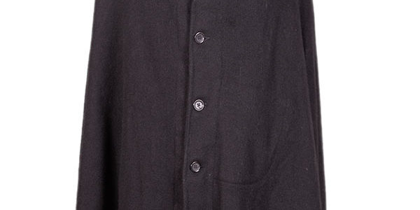 1930's french dark blue wool long cape coat