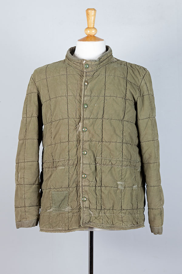 1950's french army quilted jacket War of