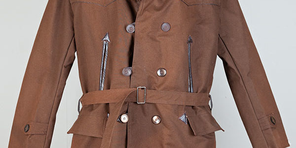 1950's french brown linen canadienne jacket