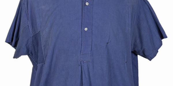 1940's french indigo linen work shirt