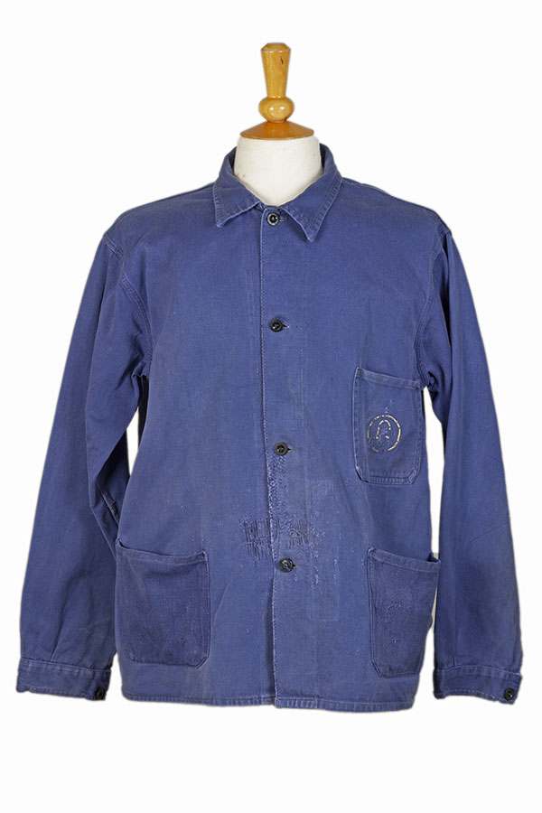 1950's belgian cotton blue work jacket