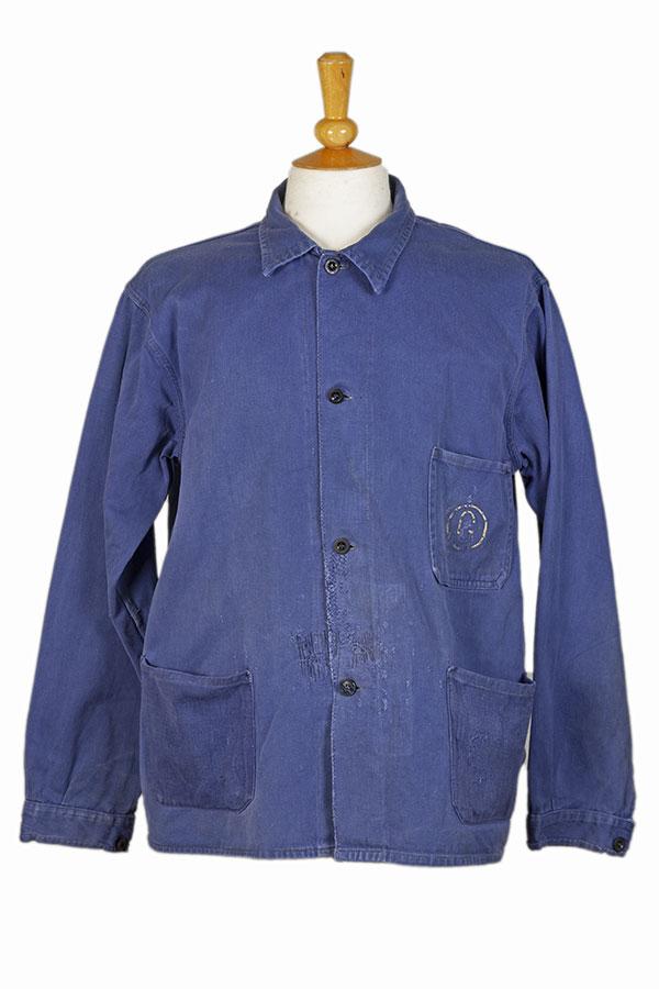 1950's belgian cotton blue work jacket
