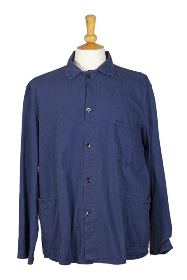 1960's belgian blue linen work jacket