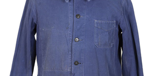 1950's french cotton blue work jacket