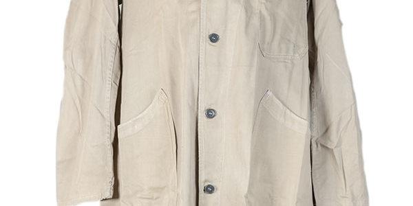1950's Belgian beige linen atelier coat