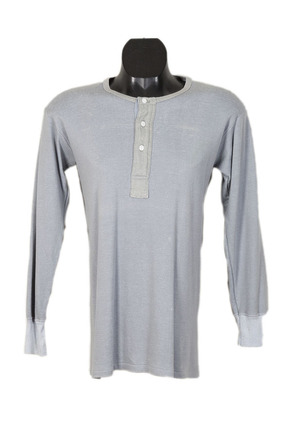 1960's belgian long sleeves grey henleys