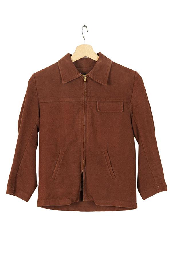 1950's deadstock Le Sans Egal kid brown velvet jacket